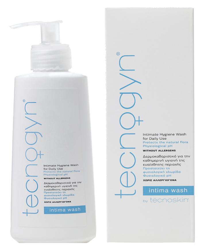 Tecnoskin Intima Wash Καθαριστικό για τη Καθημερινή Υγιεινή της Ευαίσθητης Περιοχής & Προστασίας της Φυσιολογικής Χλωρίδας 200ml