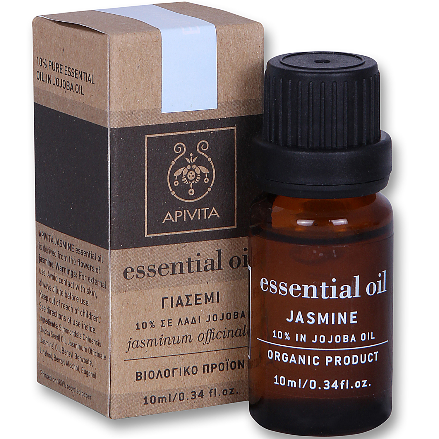 Apivita Essential Oil Γιασεμί 10% σε Λάδι Jojoba 10ml