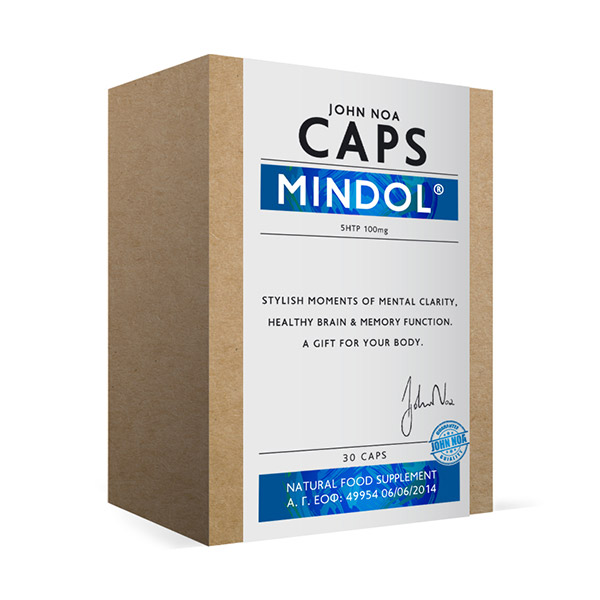 John Noa Caps Mindol Βοηθάει Σε Περιπτώσεις Μεταπτώσεων Της Διάθεσης Και Στο Άγχος 30 κάψουλες