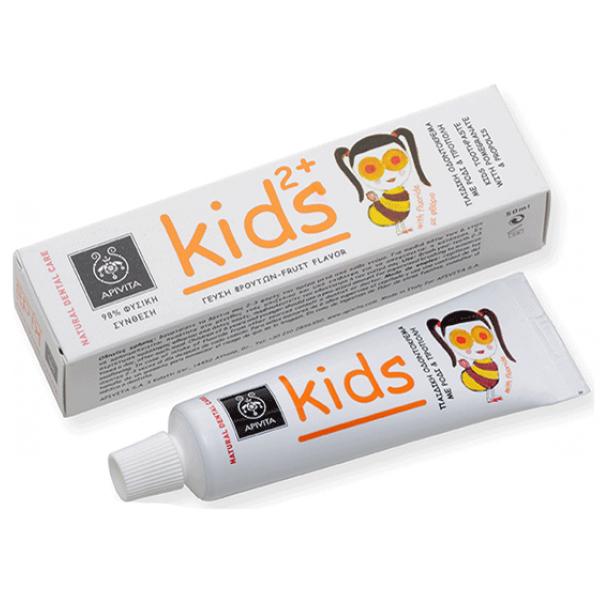 Apivita Natural Dental Care Kids 2+ Παιδική Οδοντόκρεμα Με Ρόδι & Πρόπολη 50ml