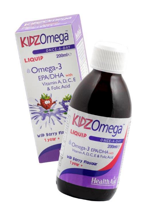 Health Aid Kidz Omega -Liquid -Wildberry Σωστή Ανάπτυξη Του Οργανισμού 200ml