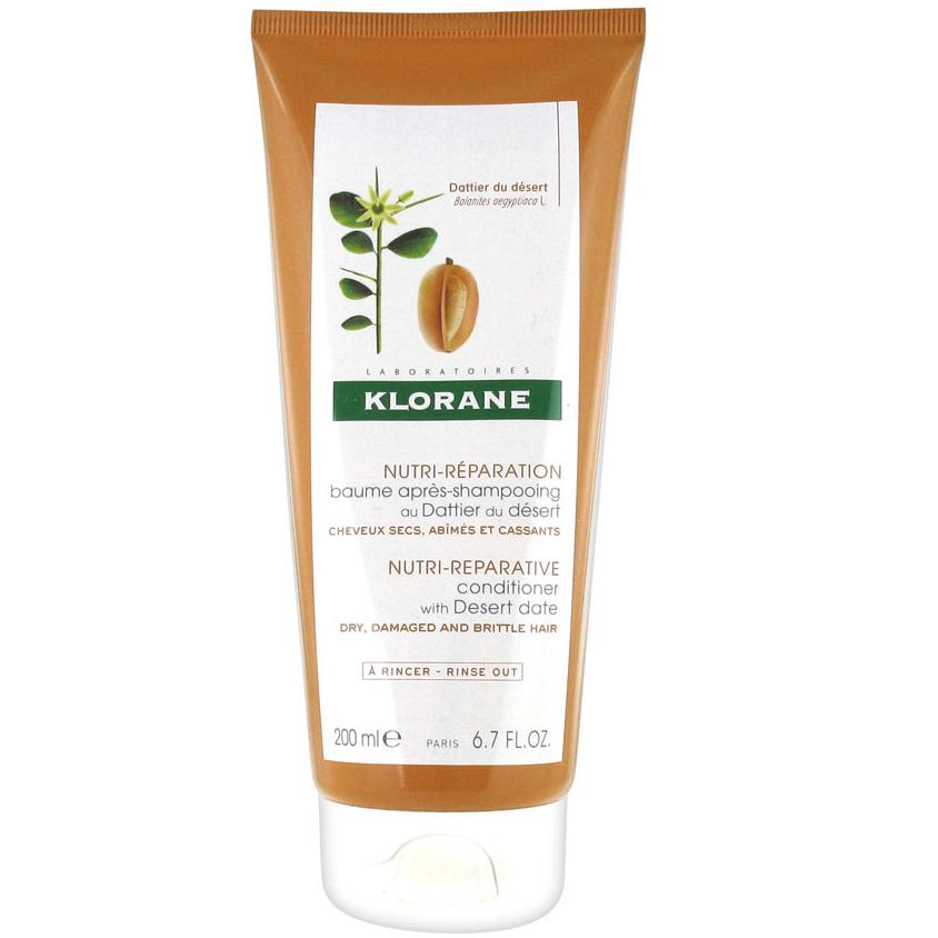 Klorane Baume Apres Shampooimg Dattier du Dersert Μαλακτική Κρέμα με Χουρμά της Ερήμου για Ξηρά / Ταλαιπωρημένα Μαλλιά 200ml
