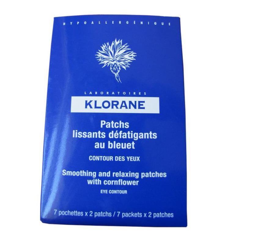 Klorane Χαλαρωτικά Patches Ματιών με Κυανοκενταυρίδα 7φακελάκια
