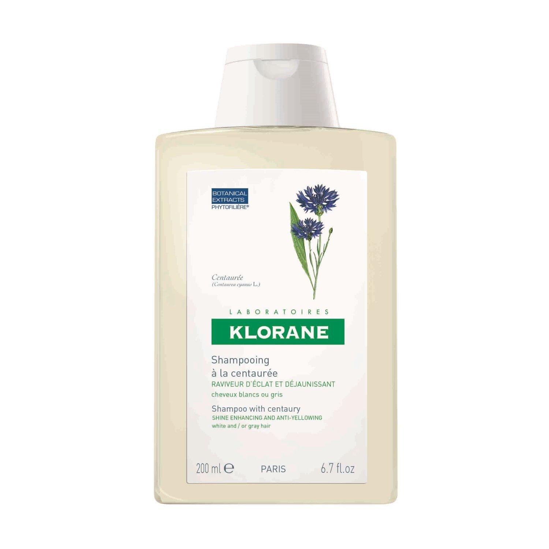 Klorane Shampoo Centauree Σαμπουάν με Κενταυρίδα για Λευκά – Γκρίζα Μαλλιά 200ml