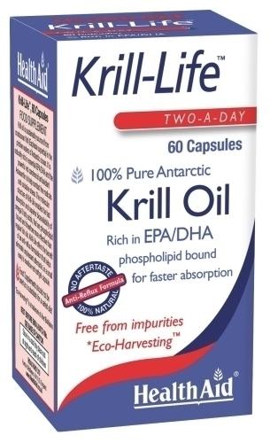 Health Aid Krill-Life Πλούσια Πηγή Απαραίτητων Λιπαρών Οξέων 90caps