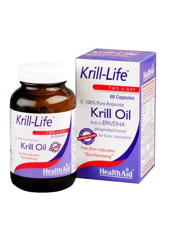 Health Aid Krill Life Krill Oil Πλούσια Πηγή Ωμέγα 3 500Mg -60Caps