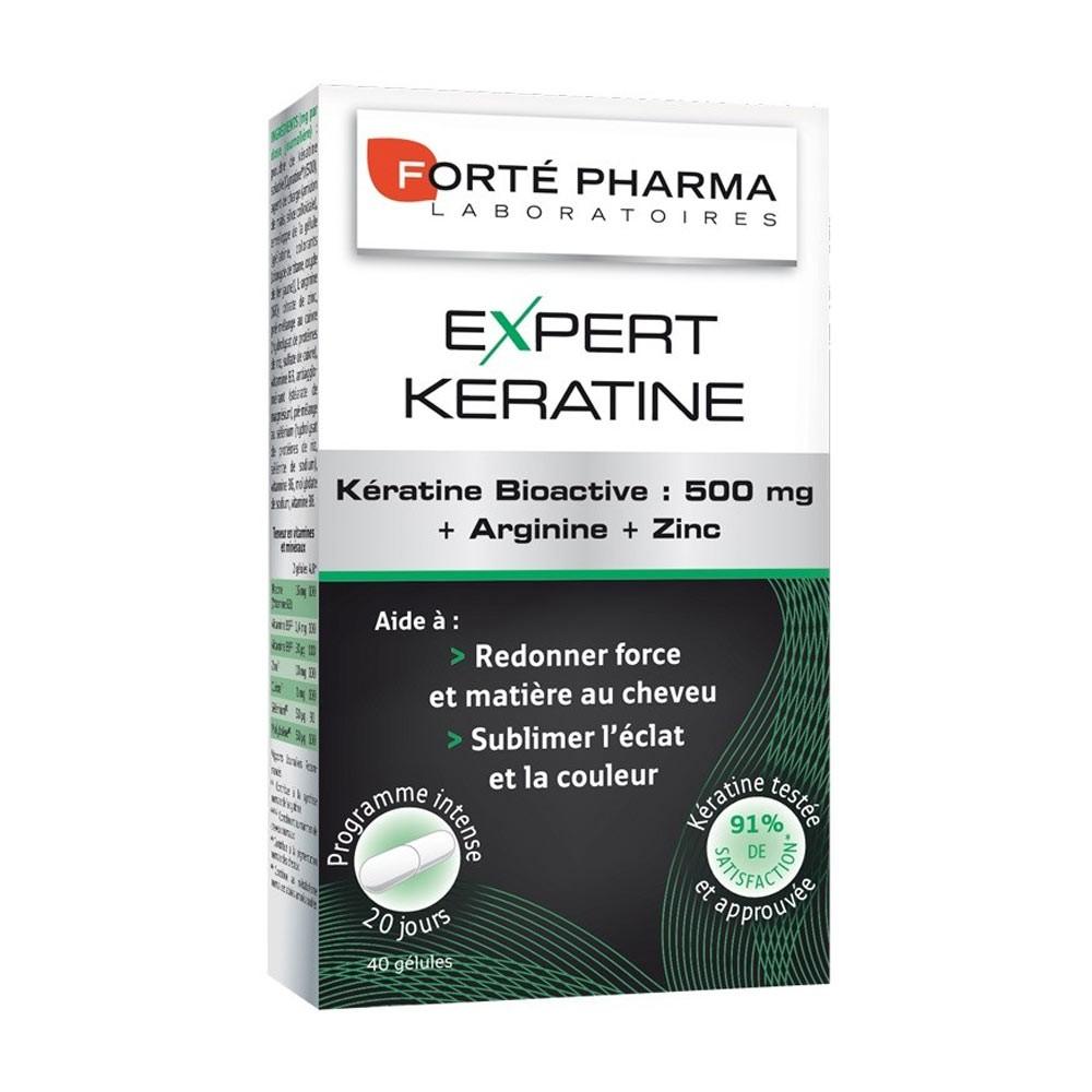 Forte Pharma Expert Keratine 500 mg Για Εύθραυστα Ταλαιπωρημένα Θαμπά Μαλλιά 40caps