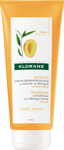 Klorane Baume Apres Shampooimg Beurre de Mangue Μαλακτική κρέμα θρέψης για εύκολο ξέπλυμα με βούτυρο μάνγκο 200ml