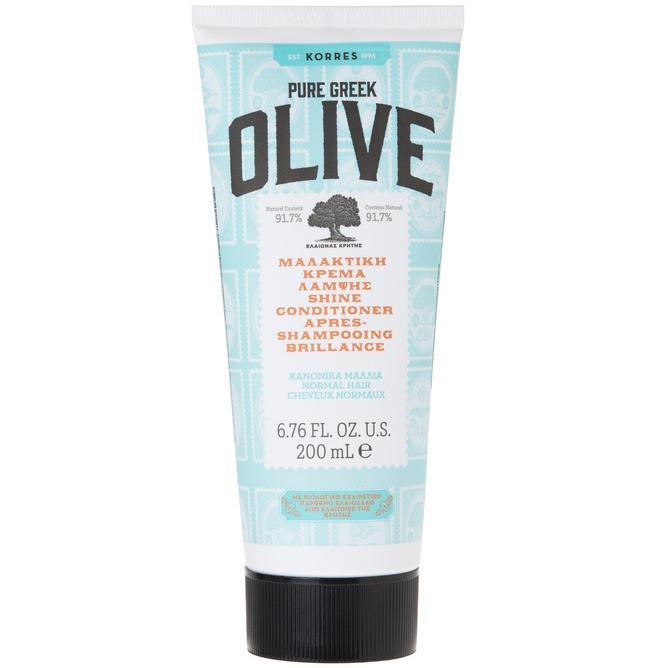 Korres Pure Greek Olive Μαλακτική Κρέμα Λάμψης για Κανονικά Μαλλιά 200ml