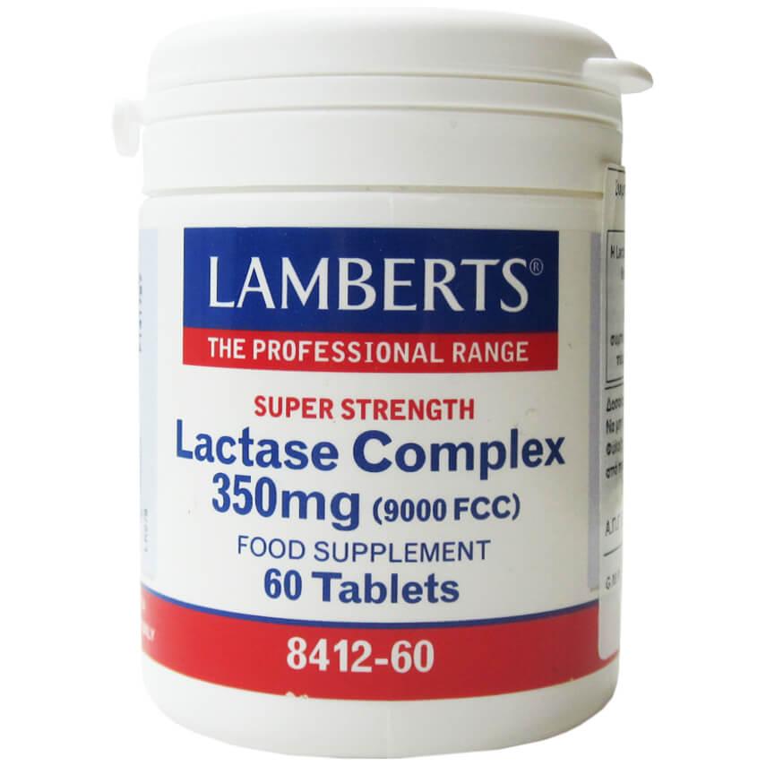 Lamberts Lactase Complex 350mgΣυμπλήρωμα ΔιατροφήςμεΣύμπλεγμα Λακτάσης για την Ευκολότερη Πέψη της Λακτόζης60 Τabs