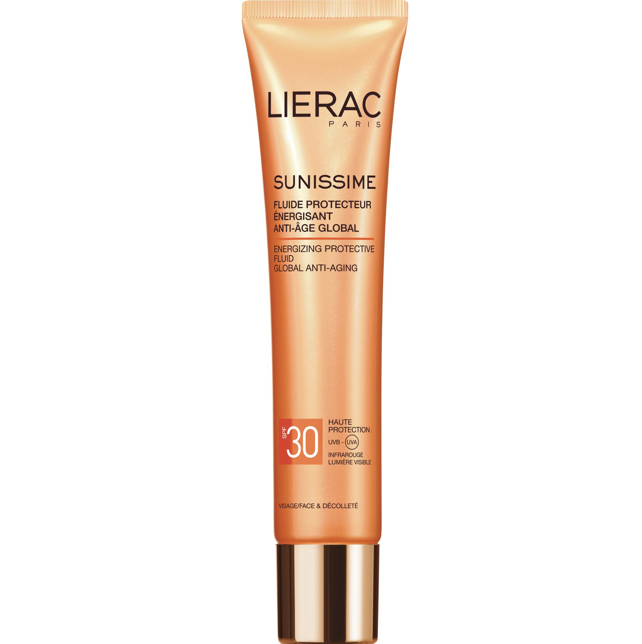 Lierac Sunissime Fluide Protecteur Energisant Anti-âge Global Spf30 Αντηλιακή, Αντιγηραντική Λεπτόρρευστη Κρέμα Προσώπου 40ml