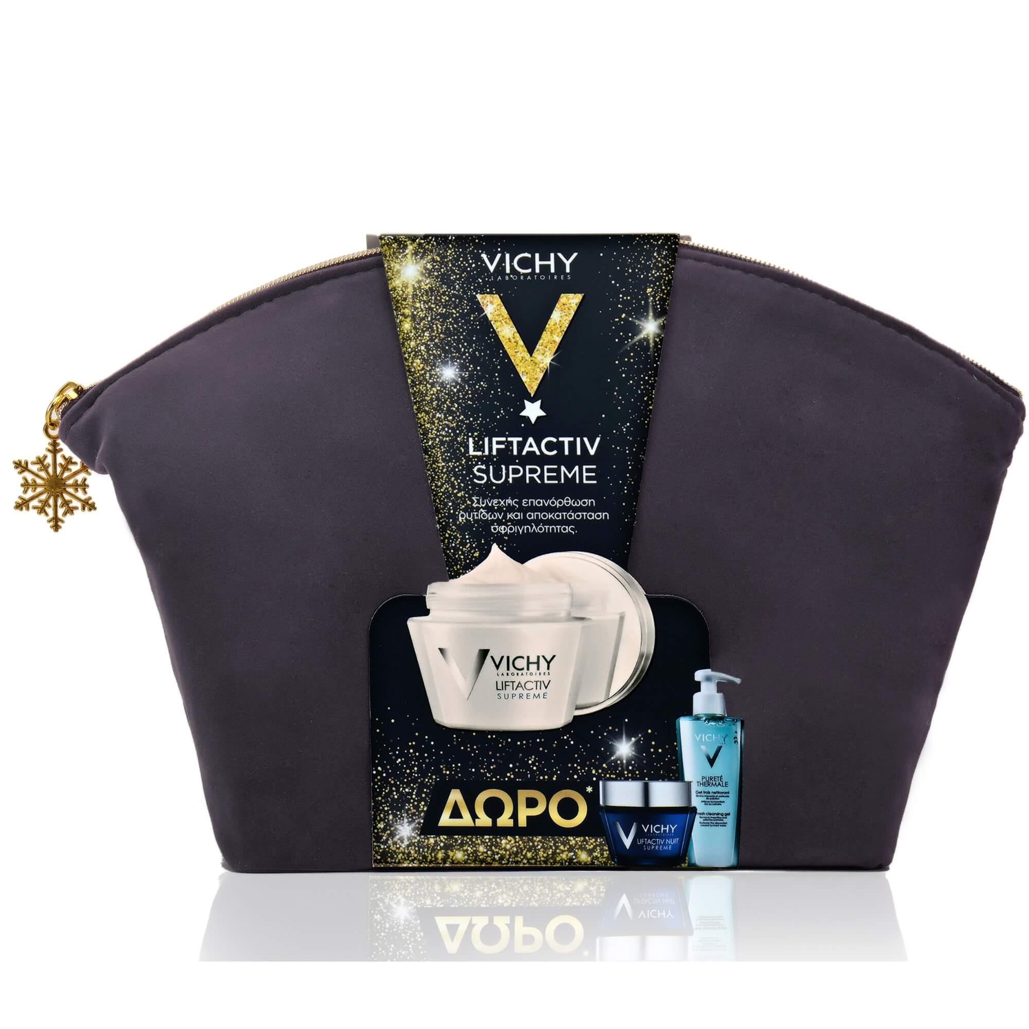 Vichy Πακέτο Προσφοράς Liftactiv Supreme, Καν / Μικτή Επιδερμίδα 50ml& Δώρο Neovadiol Nuit 15ml & Purete Thermale Gel 15ml