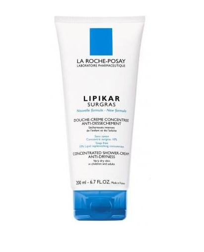 La Roche Posay Lipikar Surgras Liquid Συμπυκνωμένη Κρέμα Για Ντους Που Αναπληρώνει Τα Λιπίδια Του Δέρματος 200ml