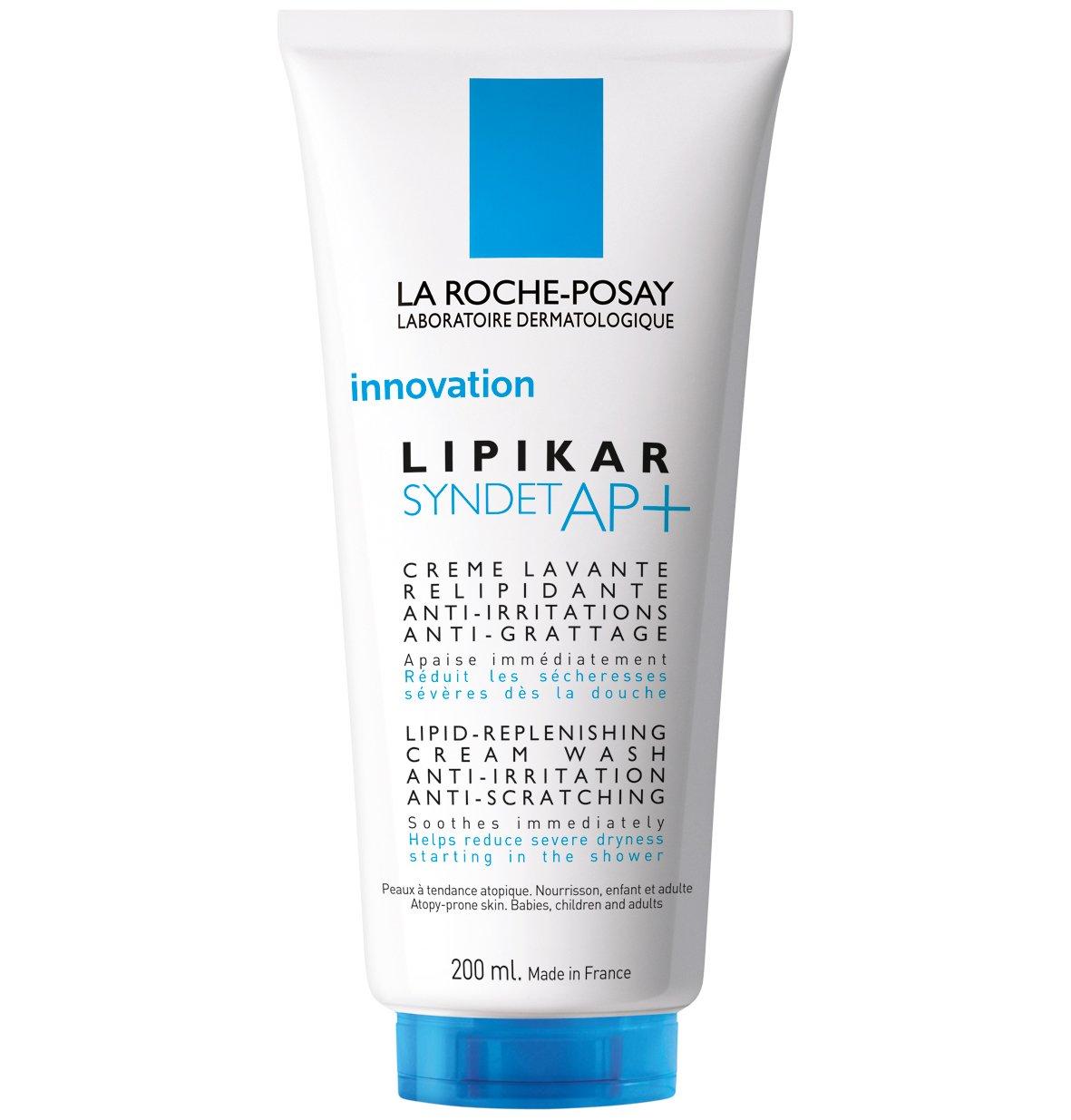 La Roche-Posay Lipikar Syndet AP+ Kρέμα Καθαρισμού για Αναπλήρωση των Λιπιδίων, Κατά των Ερεθισμών & του Κνησμού, Χωρίς Σαπούνι – 400ml