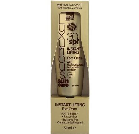 InterMed Luxurious Sun Care Instant Lifting Face Cream Spf30 Αντηλιακή & Αντιρυτιδική Κρέμα Προσώπου με Ματ Αποτέλεσμα 50ml