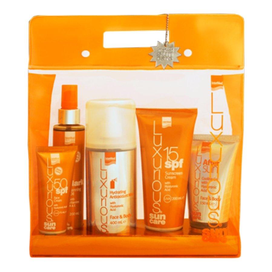 Luxurious Sun Care Medium Protection Pack Πακέτο Χαμηλής Αντηλιακής Προστασίας με 5 Προιόντα