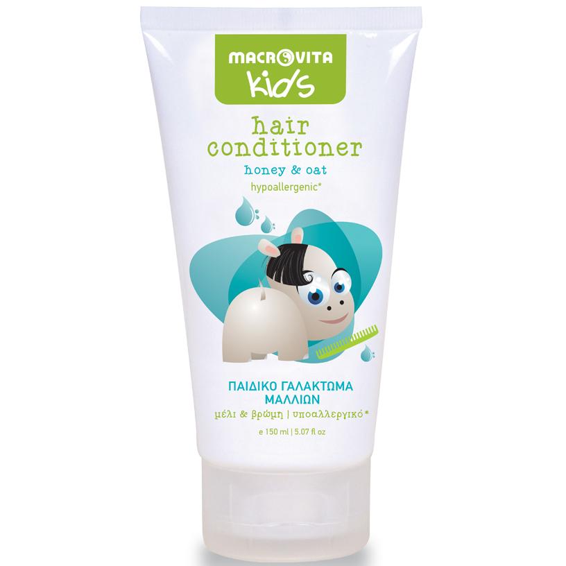 Macrovita Kids Hair Conditioner Παιδικό Γαλάκτωμα Μαλλιών με Μέλι & Βρώμη από 3+ Ετών 150ml