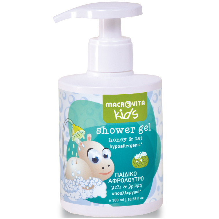Macrovita Kids Shower Gel Παιδικό Αφρόλουτρο με Μέλι & Βρώμη από 3+ Ετών 300ml