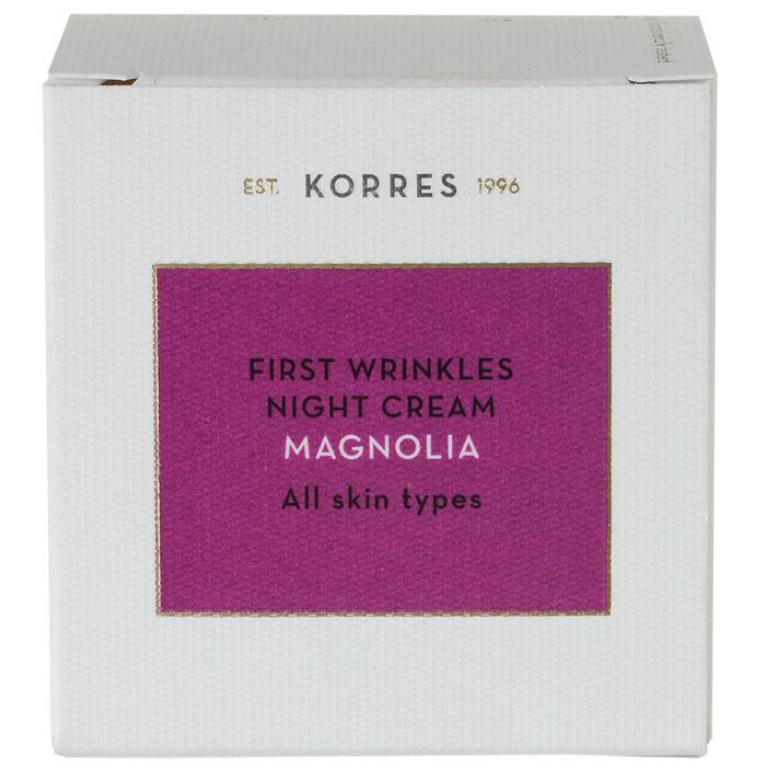 Korres Φλοιός Μανόλιας Κρέμα Νύχτας για Πρώτες Ρυτίδες για Όλους τους Τύπους Δέρματος 40ml