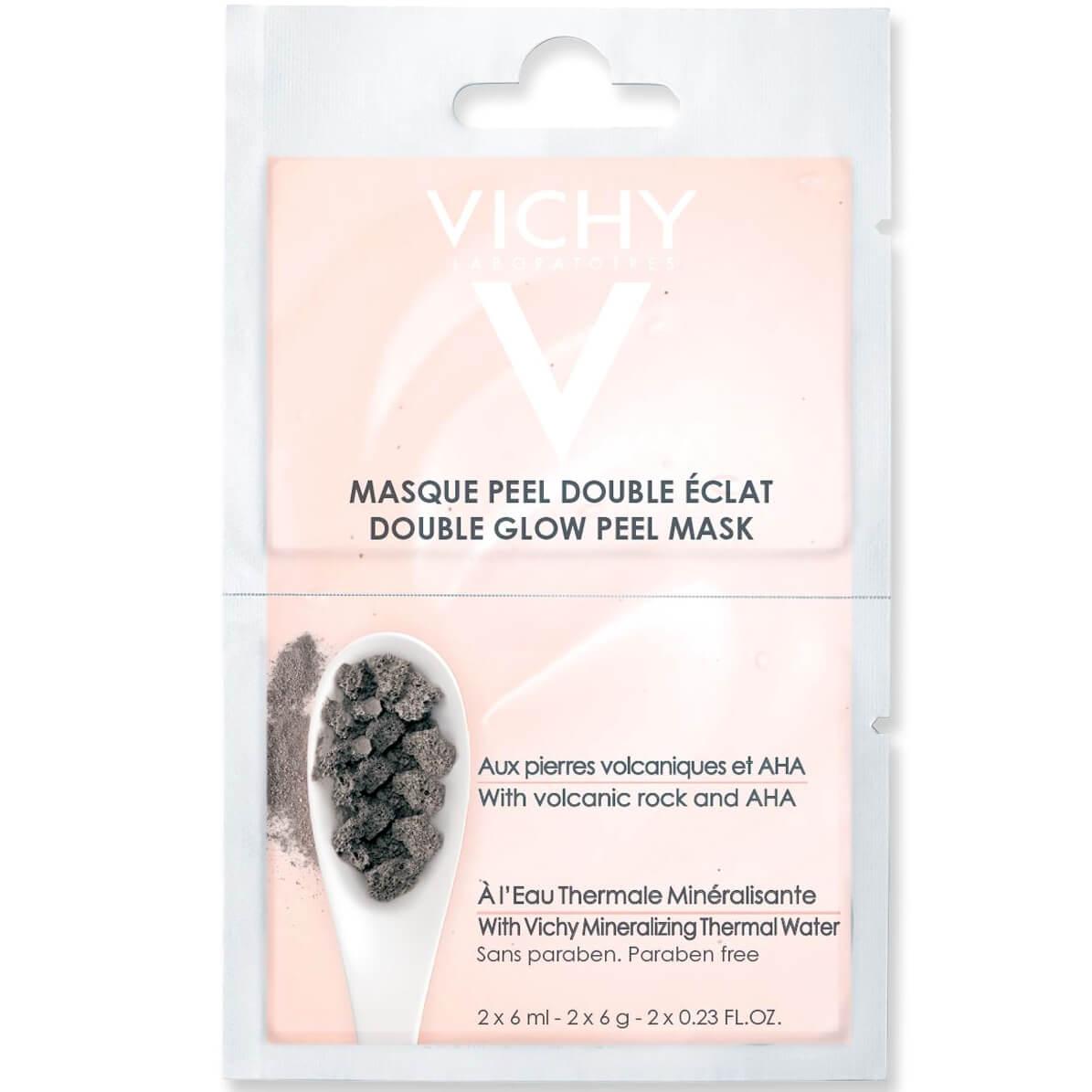 Vichy Masque Peel Double Eclat Μάσκα Διπλής Λάμψης και Απολέπισης 2x6ml