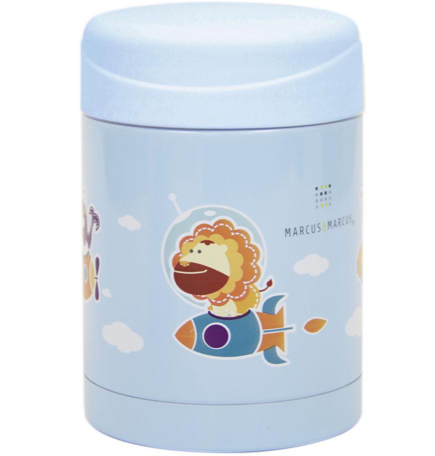 Marcus & Marcus Thermal Food Jar Ισοθερμικό Δοχείο Φαγητού Από Ανοξείδωτο Ατσάλι 350ml 1 Τεμάχιο – γαλάζιο