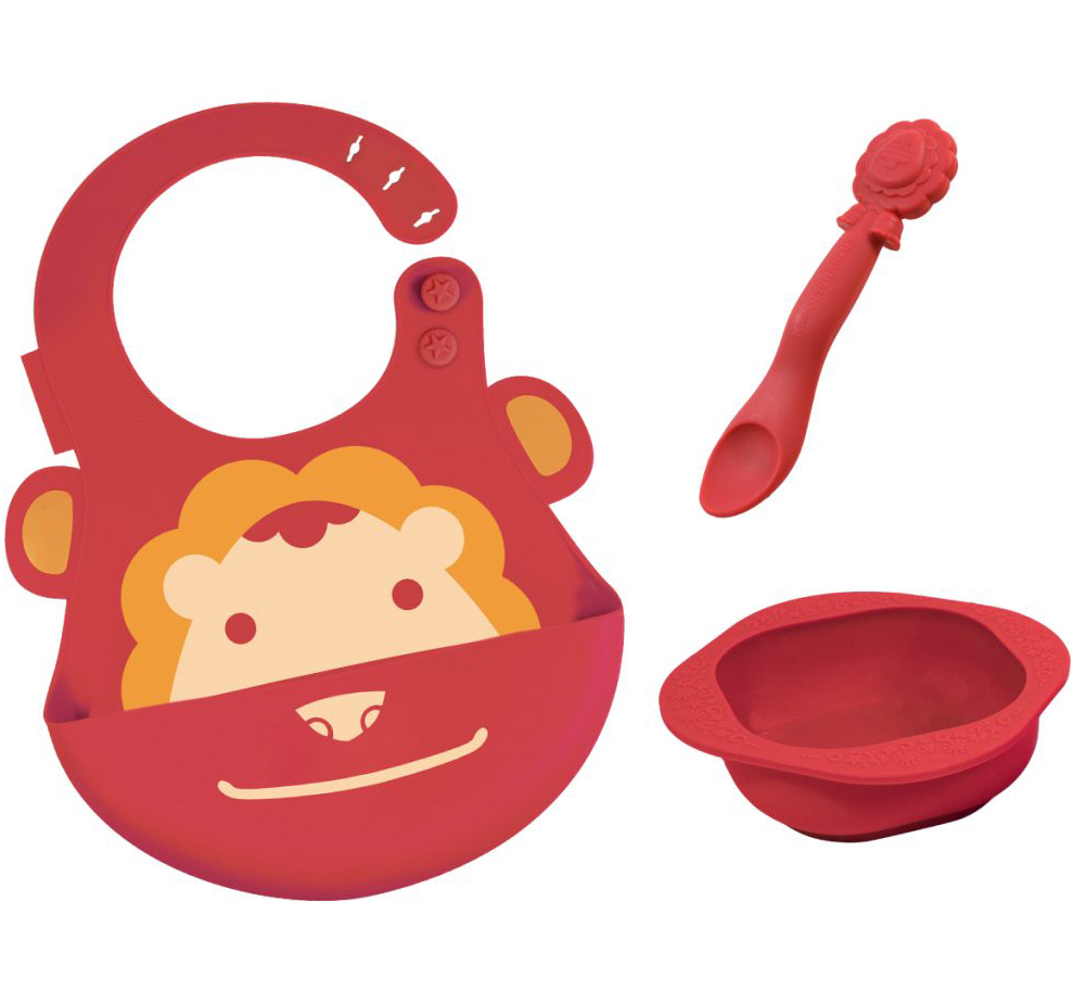 Marcus & Marcus Baby Feeding Set Lion Σετ Φαγητού Λιοντάρι, με Σαλιάρα, Μπολ & Κ μητέρα παιδί   αξεσουάρ και παιχνίδια   βρεφικά   παιδικά σετάκια φαγητού