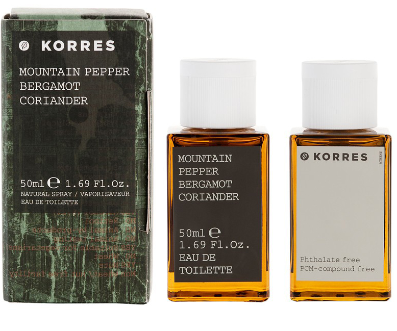 Korres Άρωμα Για Άνδρες Mountain Pepper/Bergamot/Coriander Eau de Toilette 50ml