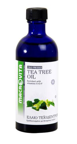 Tea Tree Oil 100ml – Macrovita,Έλαιο Τεϊόδεντρου με Αντισηπτικές & Μαλακτικές Ιδιότητες