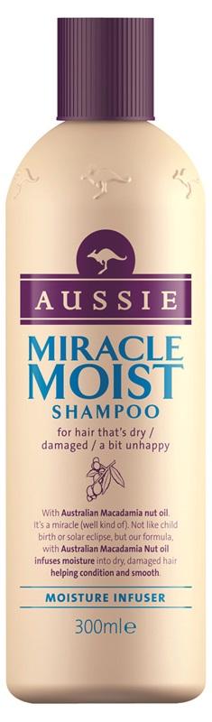 Aussie Miracle Moist Shampoo Προσφέροντας Μια Ανάσα Δροσιάς Στα Ξηρά Ταλαιπωρημένα Διψασμένα Μαλλιά 300ml
