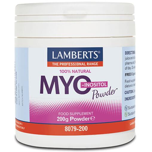 Lamberts Myo-Inositol Powder Συμπλήρωμα Διατροφής Μυοϊνοσιτόληςσε Σκόνη200g
