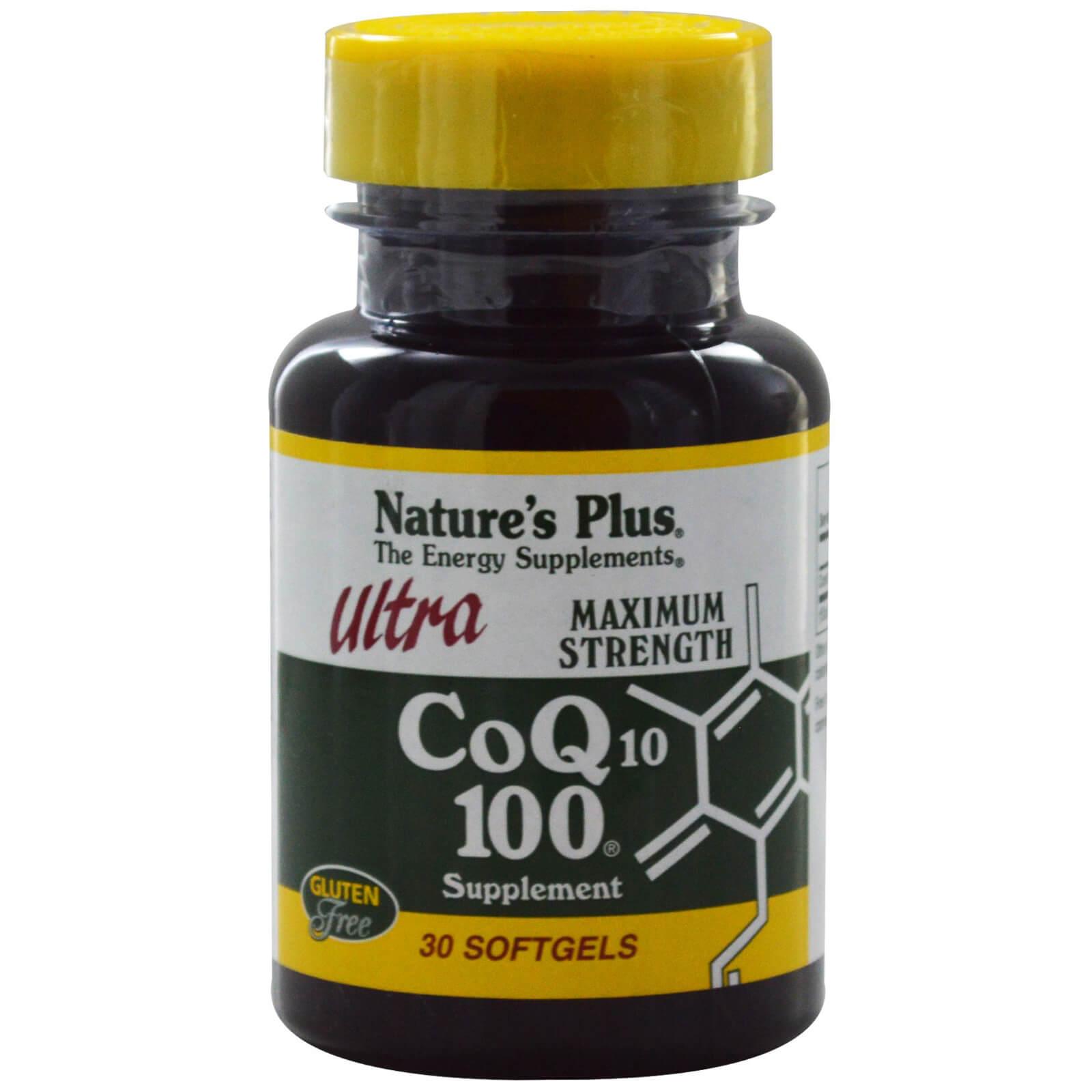 Natures Plus Ultra Co-Q10 100mg Συμπλήρωμα Διατροφής με Αντιοξειδωτικές Ιδιότητες 30 Softgels