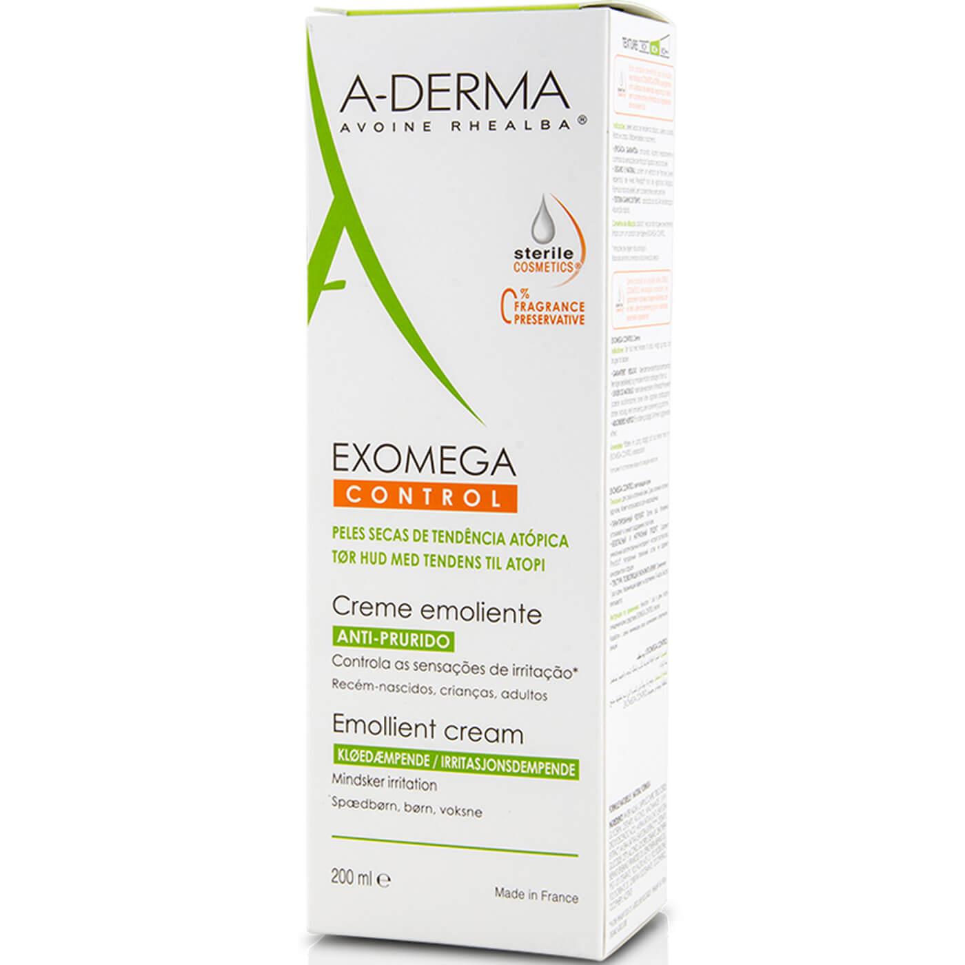 A-Derma Exomega Control Cream Emollient Μαλακτική Κρέμα για το Ατοπικό & Πολύ Ξηρό Δέρμα με Αίσθηση Δυσανεξίας 200ml