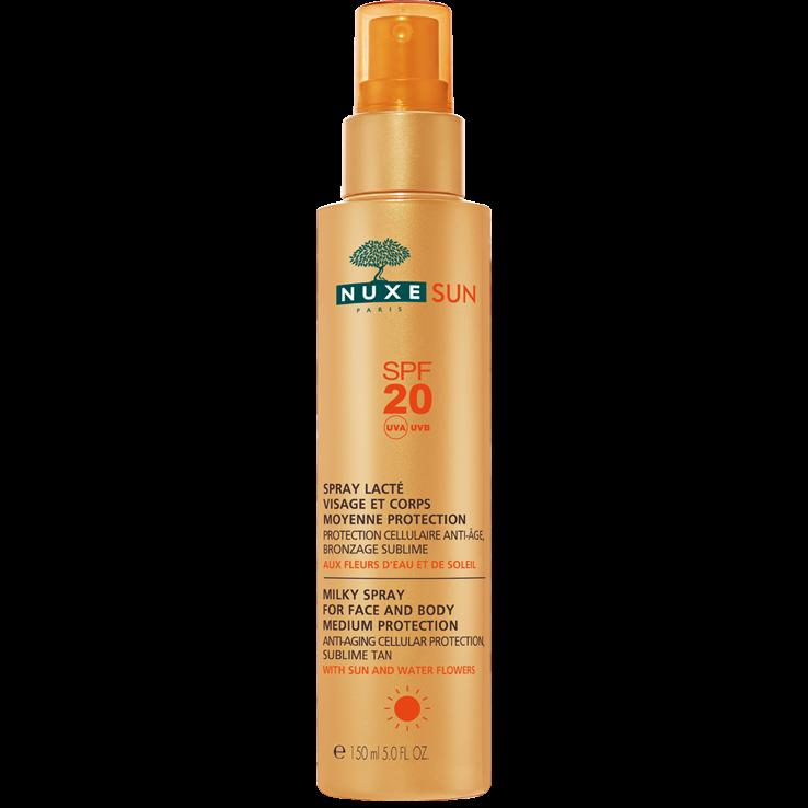 Nuxe Sun Milky Spray Αντηλιακό Γαλάκτωμα για Πρόσωπο & Σώμα Spf20 150ml
