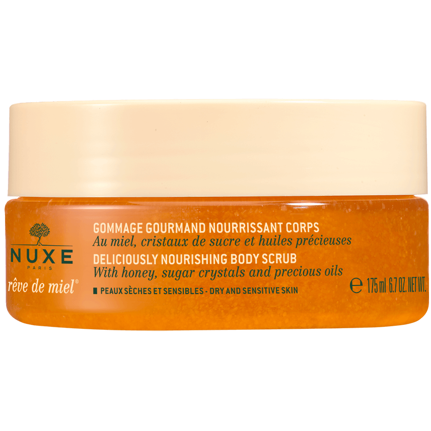 Nuxe Reve de Miel Nourishing Body Scrub Απολαυστικό Θρεπτικό Scrub Σώματος με Μέλι, Κρυστάλλους Ζάχαρης & Πολύτιμα Έλαια 175ml