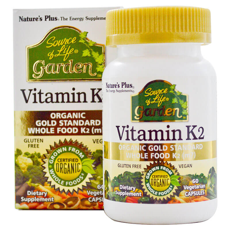 Natures Plus Source of Life Garden Vitamin K2 120mcgΣυμπλήρωμα Διατροφής με Βιταμίνη K260 Vcaps
