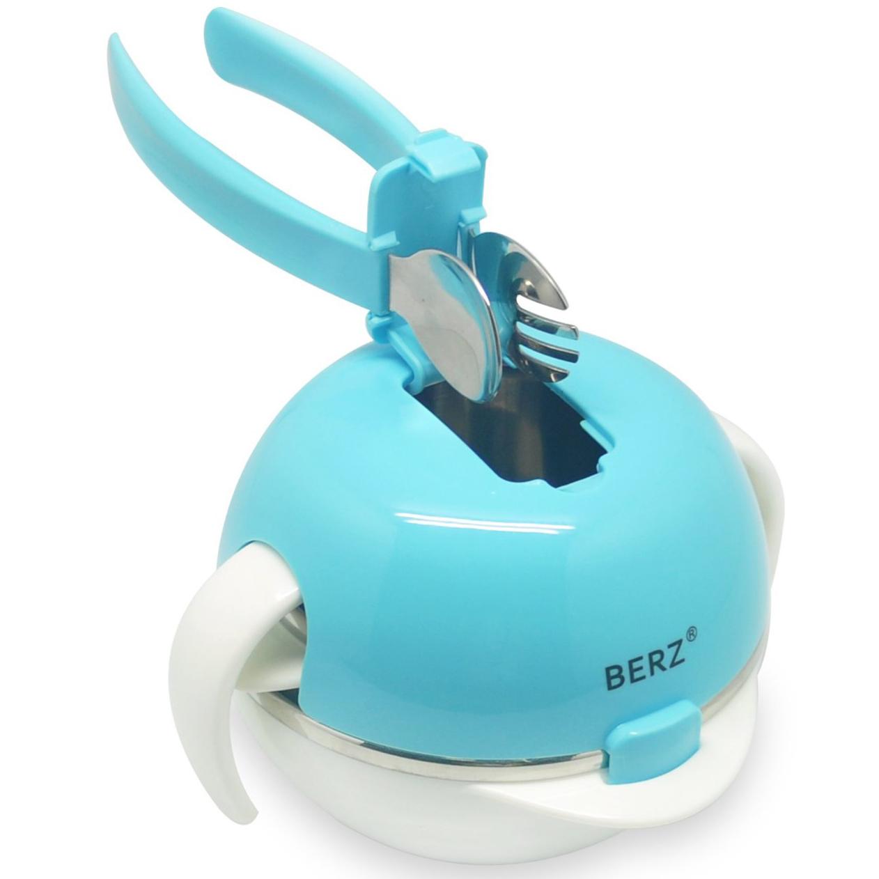 Berz Baby 12m+ Dinnerware Bunny5-in-1Βρεφικό Σετ Φαγητού σε Διάφορα Χρώματα -  μητέρα παιδί   αξεσουάρ και παιχνίδια   βρεφικά   παιδικά σετάκια φαγητού
