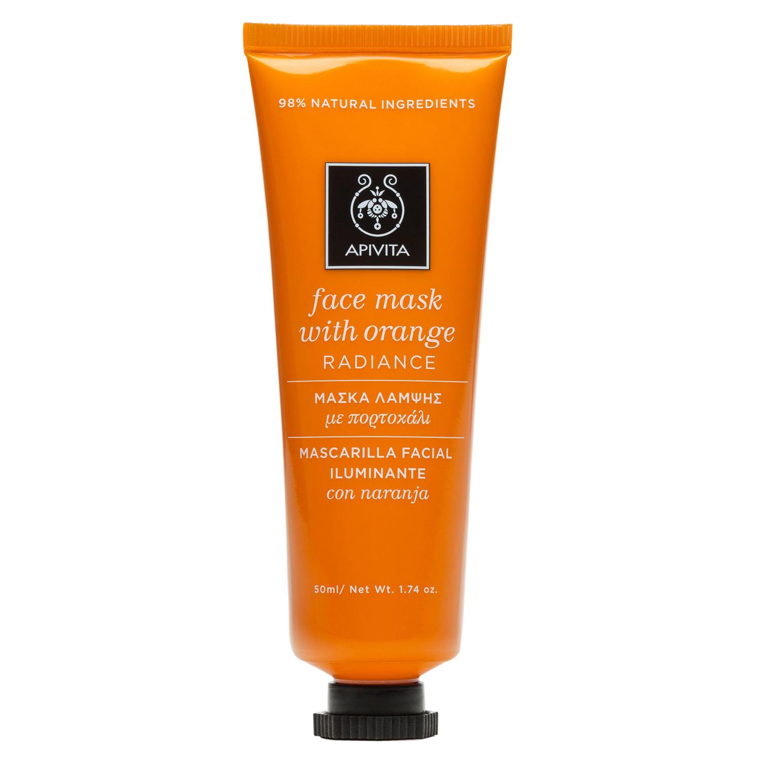 Apivita Face Mask with Orange Μάσκα Λάμψης για Θαμπές Επιδερμίδες με Πορτοκάλι, Όλοι οι Τύποι Δέρματος 50ml