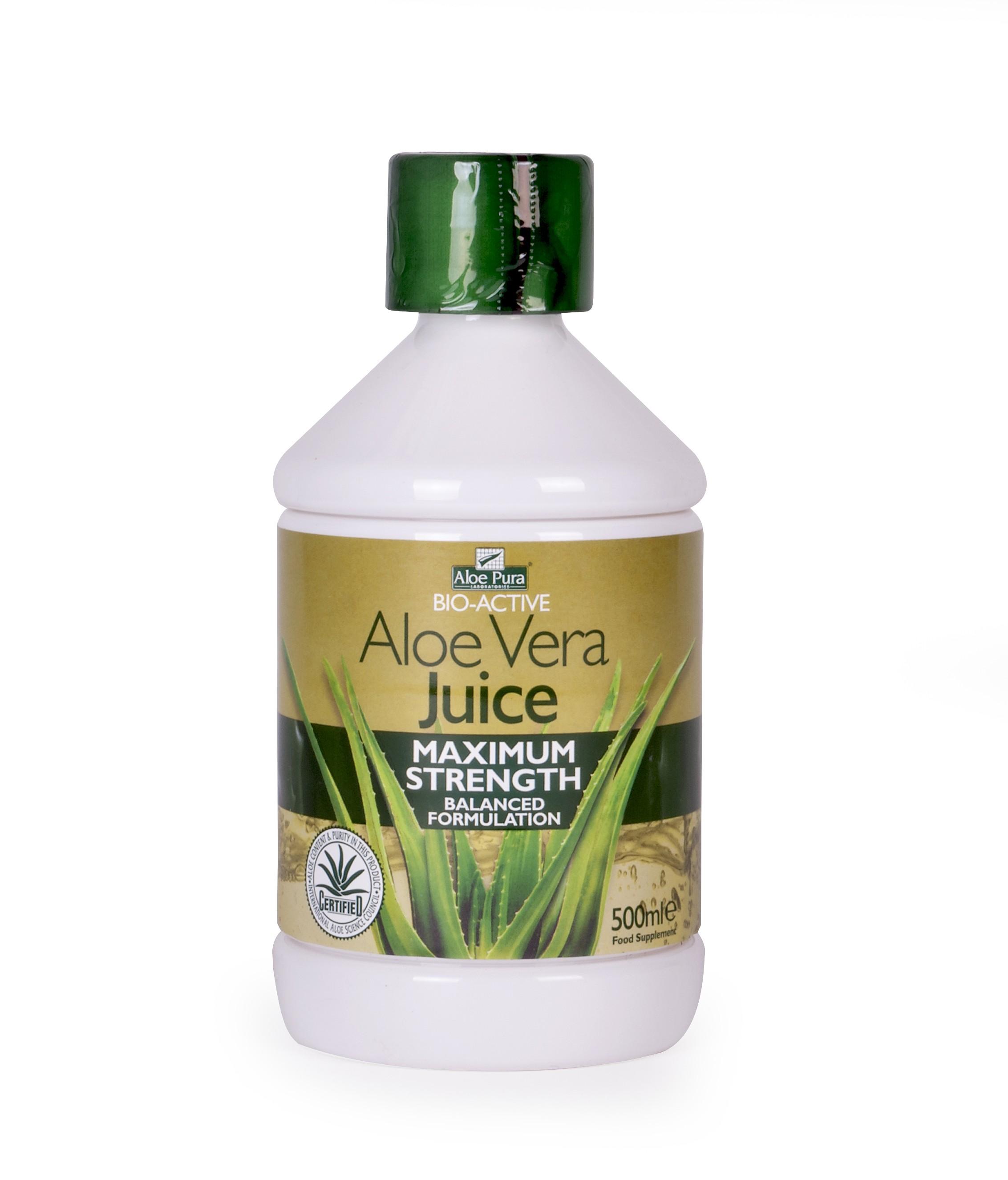 Optima Aloe Vera Juice 100% Φυσικός Χυμός Αλόης 500ml