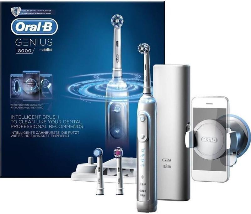 Oral-B Genius 8000 Επαναφορτιζόμενη Ηλεκτρική ΟδοντόβουρτσαΥψηλής Τεχνολογίας & με Σύνδεση σε Smartphone