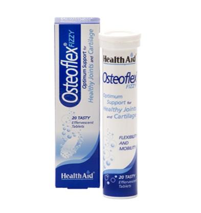 Health Aid Osteoflex Glucosamine With Chondroitin Fizzy Γλυκοζαμίνη Χονδροϊτίνη – Λεμόνι 20 Αναβράζοντα Δισκία
