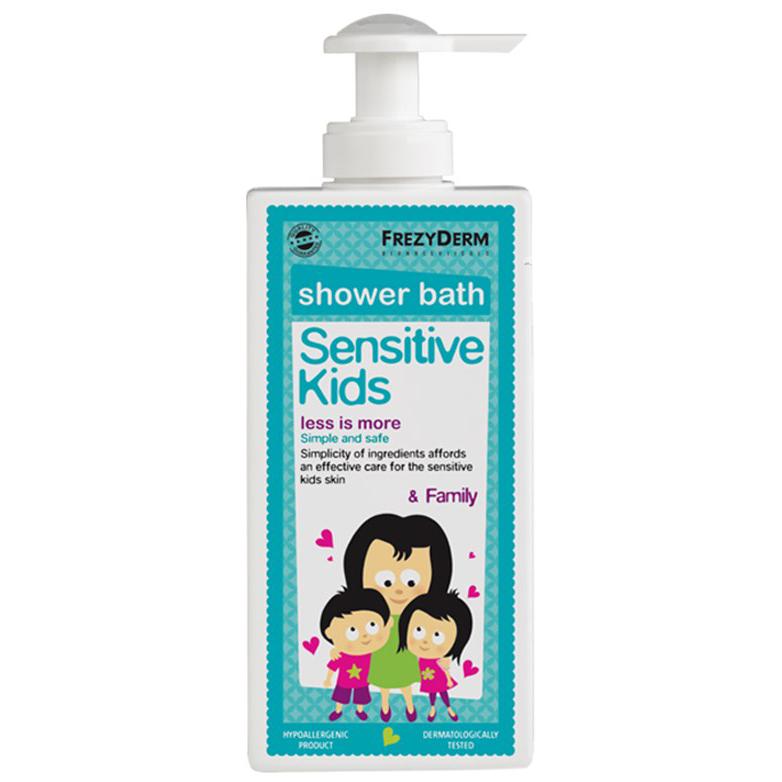 Frezyderm Sensitive Kids Shower Bath Ενυδατικό Αφρόλουτρο Για Την Παιδική Επιδερμίδα 200ml