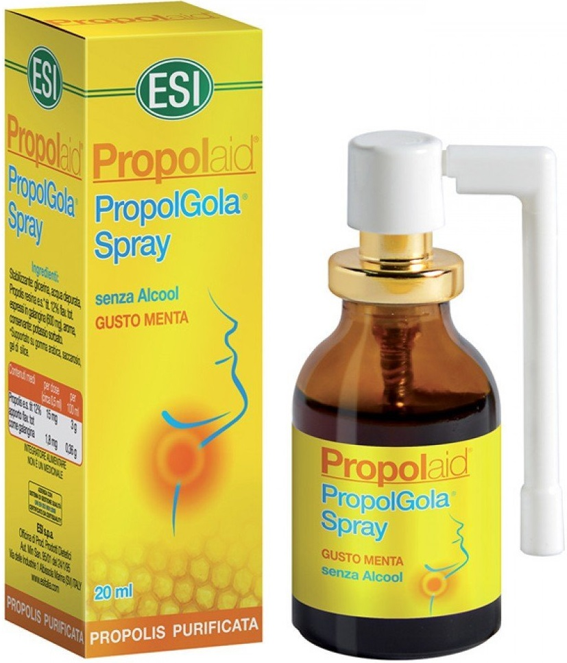 Esi Propolaid PropolGola Spray Άμεση Ανακούφιση Από Τον Βήχα Και Τον Πονόλαιμο 20ml
