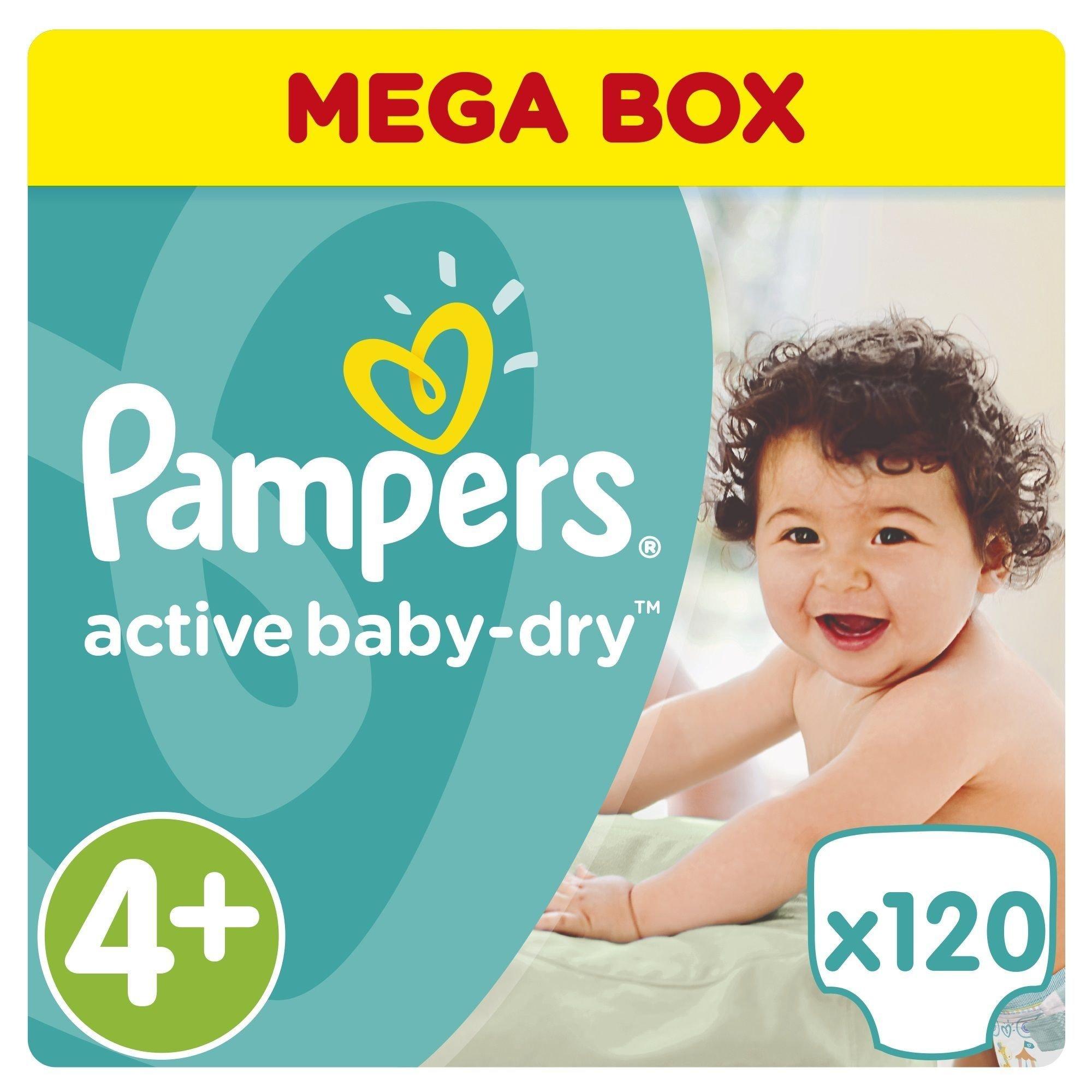 Pampers Active Baby Dry Mega Pack No4+ (9-16kg) 120 πάνες μητέρα παιδί   περιποίηση για το μωρό   πάνες για το μωρό