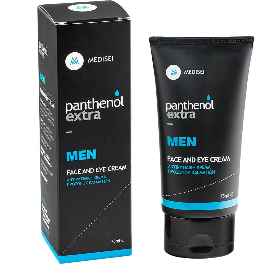 Medisei Panthenol Extra Men Face & Eye Cream Ανδρική Αντιρυτιδική Κρέμα Προσώπου ομορφιά   ανδρική φροντίδα προσώπου   σώματος   ενυδάτωση για τον άνδρα