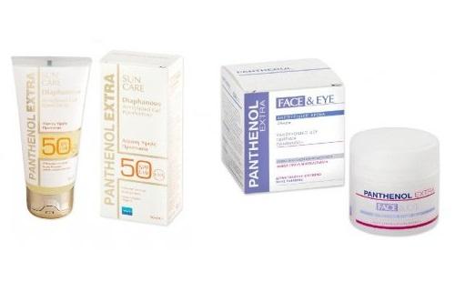 Panthenol Face&Eye 24ωρη Αντιρυτιδική Κρέμα Προσώπου Ματιών 50ml + ExtraSun Care Spf50 Diaphanous Face Gel Διάφανη Αντ/ιακή 50ml