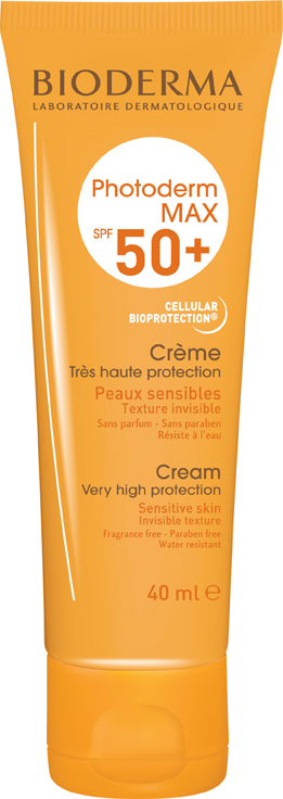 Bioderma Photoderm Max Creme Spf50+ – Αντηλιακή Κρέμα Προσώπου Πολύ Υψηλής Προστασίας για το Δυσανεκτικό Δέρμα 40ml