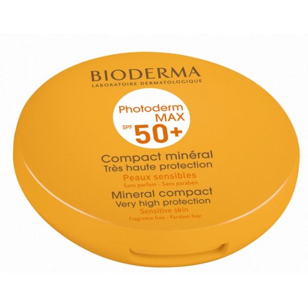 Bioderma Photoderm Max Compact Teinte Spf50+ Make Up Πούδρα για το Ευαίσθητο & Δυσανεκτικό στον Ήλιο Δέρμα 10gr – Σκούρα Απόχρωση