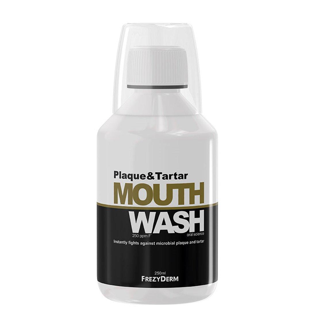 Frezyderm Plaque & Tartar Mouthwash Φθοριούχο Στοματικό Διάλυμα για την Καθημερινή Φροντίδα 250ml