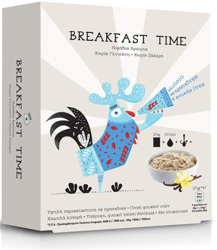 Power Health Breakfast Time Νιφάδες Βρώμης 5 Χ 25γρ
