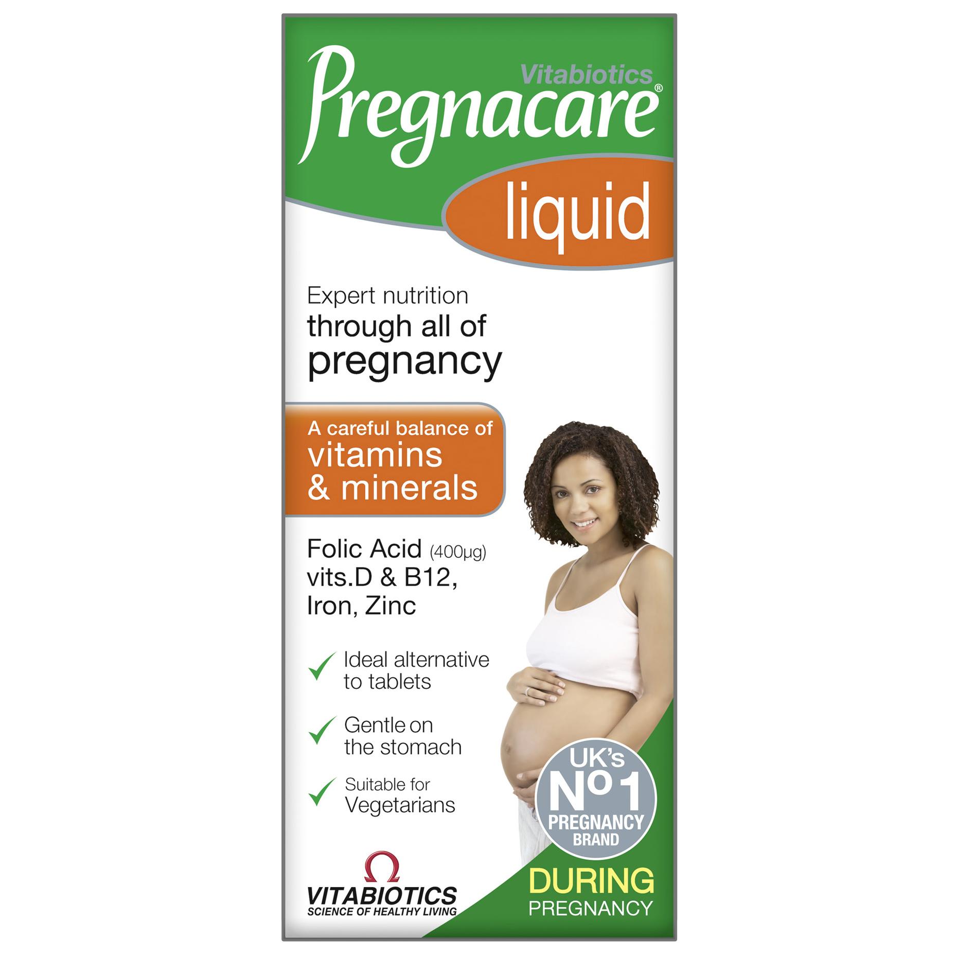 Vitabiotics Pregnacare Liquid Πόσιμο Συμπλήρωμα για τη Διατροφική Υποστήριξη των Γυναικών Κατά την Περίοδο της Εγκυμοσύνης 200ml